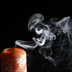 verloschene Kerze