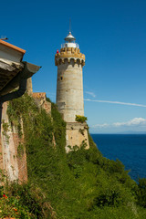 The lighthouse at the harbour of Portoferraio, Elba