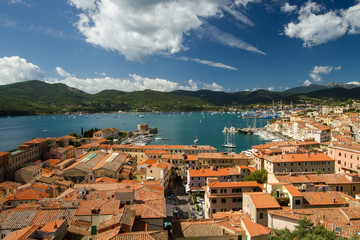 The harbour of Portoferraio, Elba