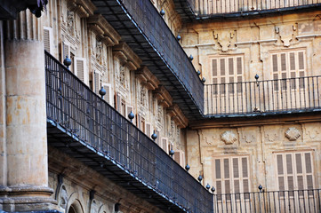 Plaza Mayor de Salamanca, arquitectura urbana, Castilla y León