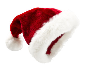 Santa Hat Tilted on white background