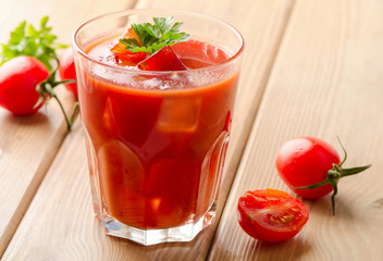 Tomato Cocktail  with   fresh herbs