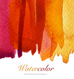 Abstract watercolor flow down hand painted background. Textured
