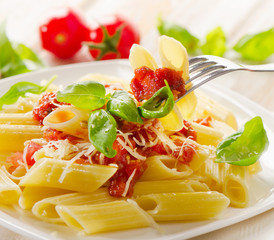 Italian Pasta penne with bolognese sauce
