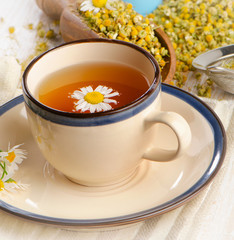 Herbal tea with chamomile .