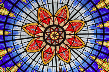 Stained glass, Museum of the Macedonian Struggle for sovereignty