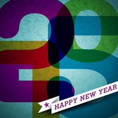 Vector Vector Happy New Year 2015 colorful background