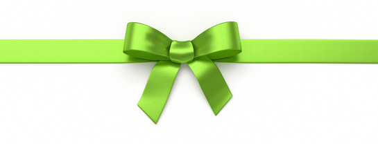 Green silk bow