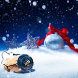 Fototapety art snow christmas background;  new years eve