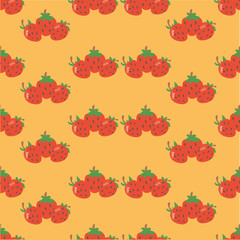Strawberry (orange background)