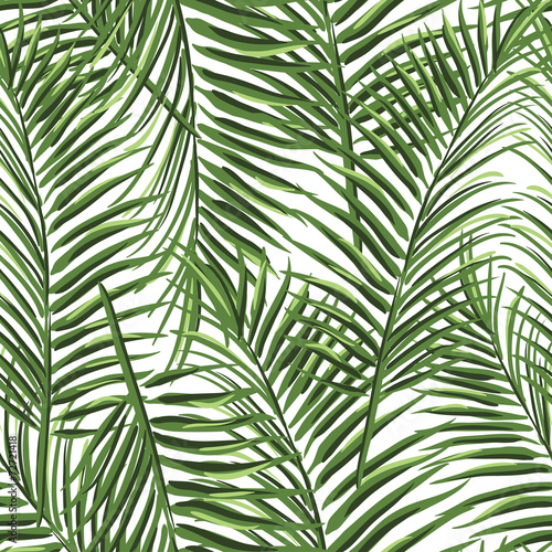 Naklejka na szybę tropical palm leaves pattern