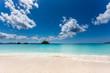 沖縄 逆光の綺麗なビーチ