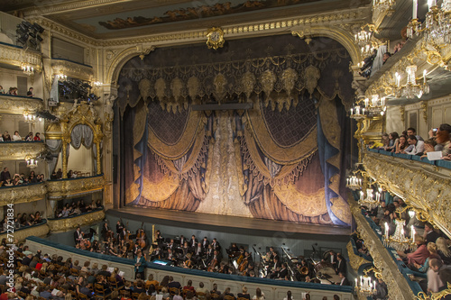 Leinwanddruck Bild St. Petersburg, Russia. Maryinsky Theater.
