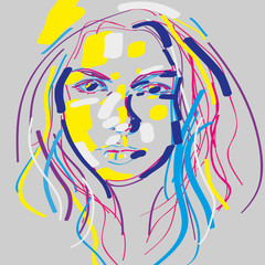 portret kobiety wektor