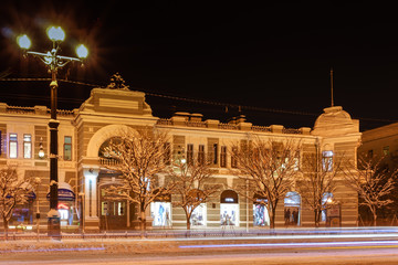 Central grocer's shop in Khabarovsk downtown