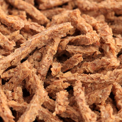 Extreme close-up of bran cereals