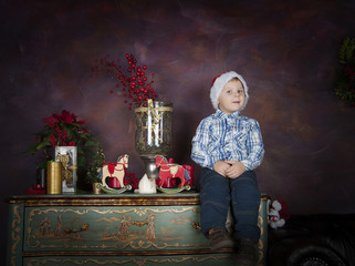 boy in Christmas