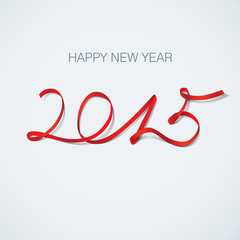 happy new year 2015 vector greeting card