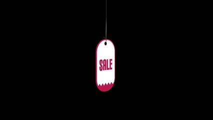 Tag sale on black background