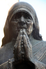 Mother Teresa monument in Skopje