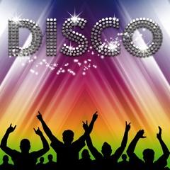 Disco poster rainbow tent