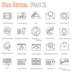 SEO icons set part 2