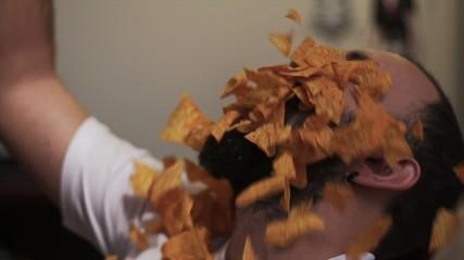 Slow Motion Food Series Eating Tortilla Chips