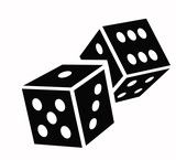dice cubes icon