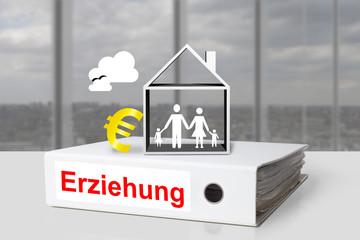 aktenordner erziehung haus familie euro