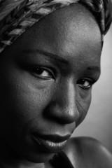 Afrikanische Frau Gesicht