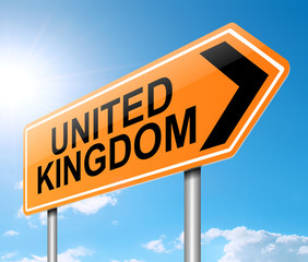 United Kingdom sign.