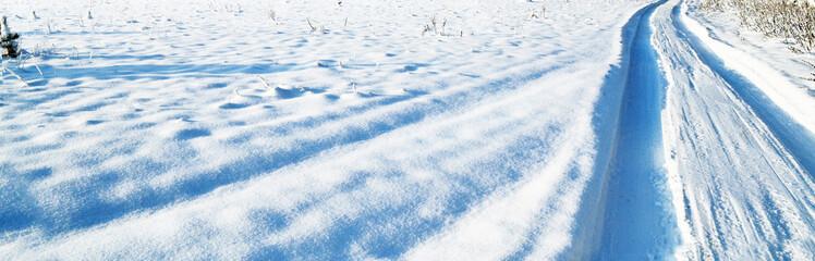Winter road. Winter landscape