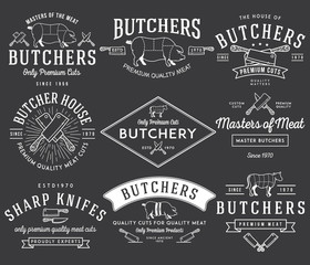 The butcher bundle 2 white on black