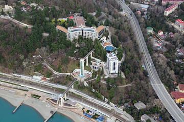 Sochi cityscape, sanatorium Russian Railways