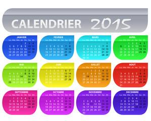 calendrier 2015 bulle multicolore