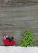 canvas print picture - Weihnachten Hintergrund aus Hoz mit Figuren