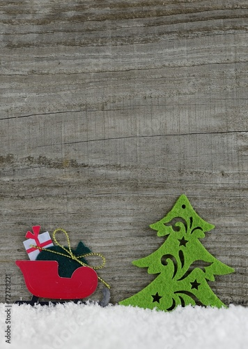 canvas print picture Weihnachten Hintergrund aus Hoz mit Figuren