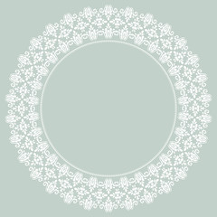 Damask Vector Pattern. Orient Light Ornament
