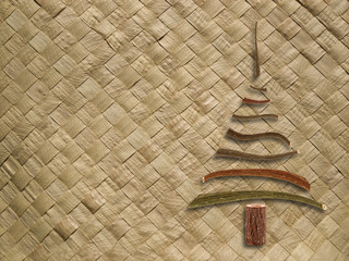 woven pattern with christmas tree