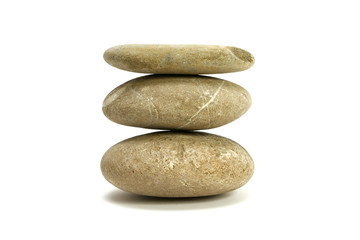 runde Steine in Balance
