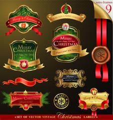 Christmas vector frames