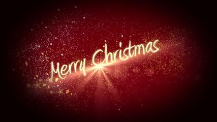 Golden light forming christmas greeting