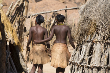 Women of Damara people in cultural village