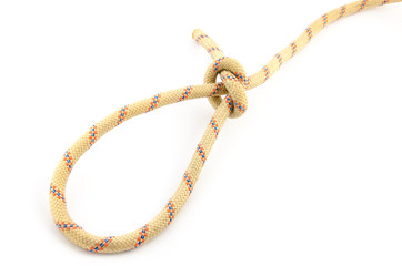 loop knot isolated on hite background