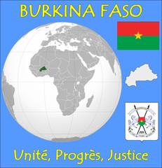 Burkina Faso location emblem motto