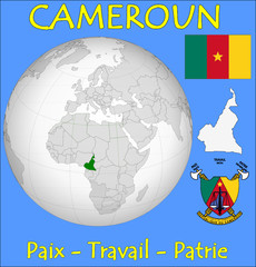 Cameroon location emblem motto