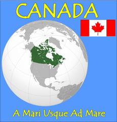 Canada location emblem motto