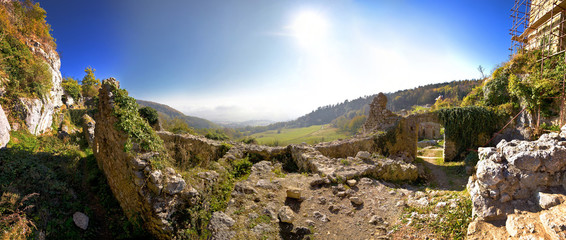 Old Kalnik mountain fortress ruins