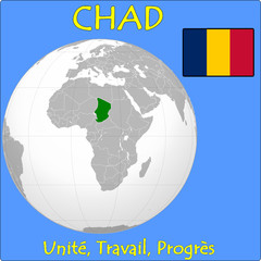 Chad location emblem motto