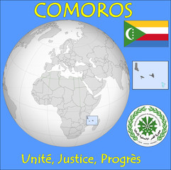 Comoros location emblem motto